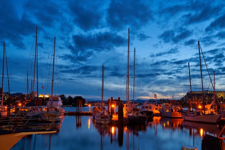加拿大:美麗的維多利亞市夜景