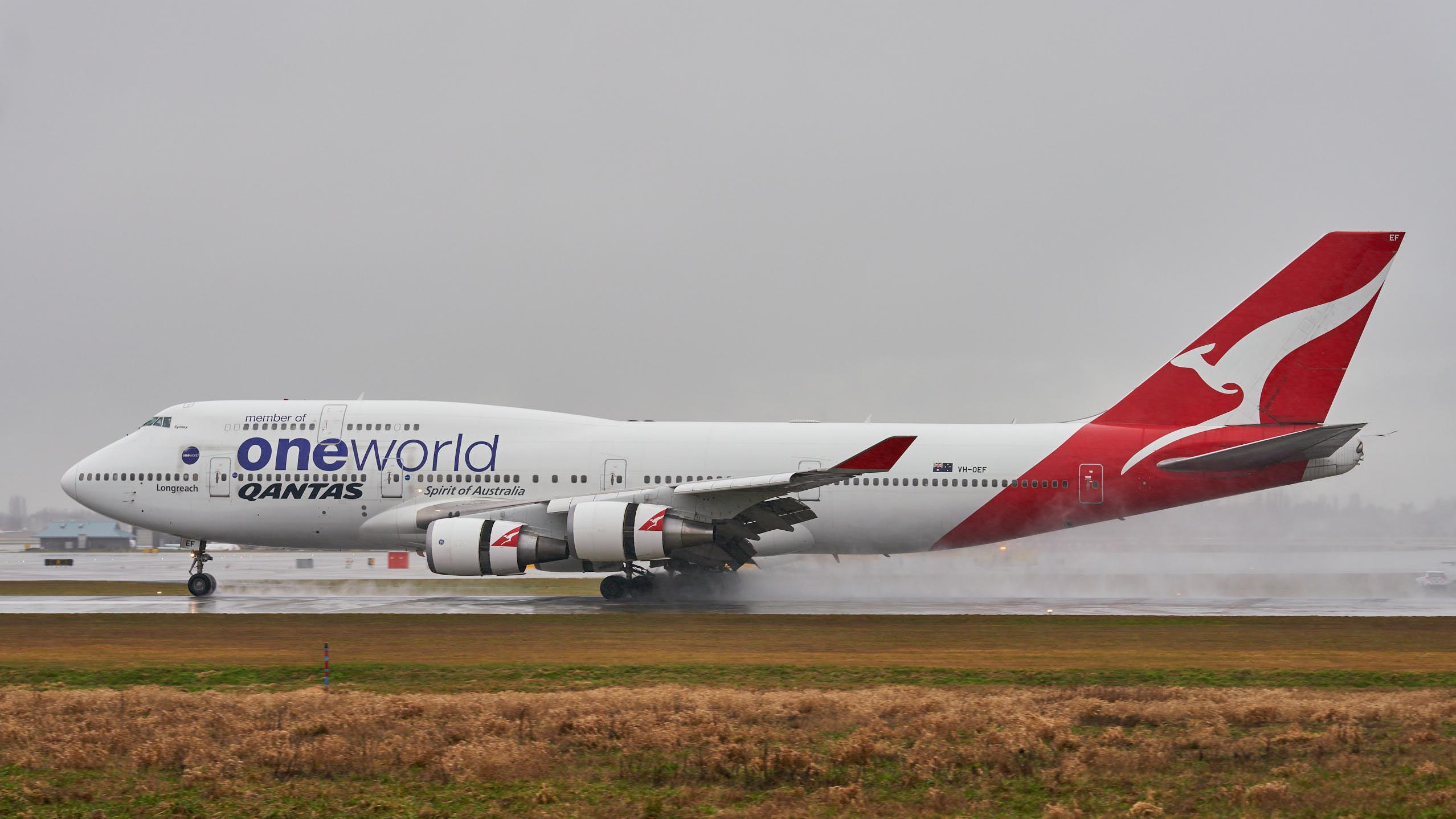"""澳洲航空:波音747-400""""寰宇一家""""联盟涂装"""