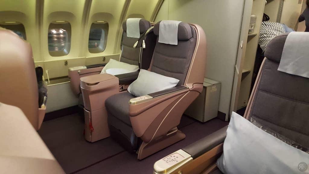 中华航空: 波音747-400曾今的国际商务舱 4