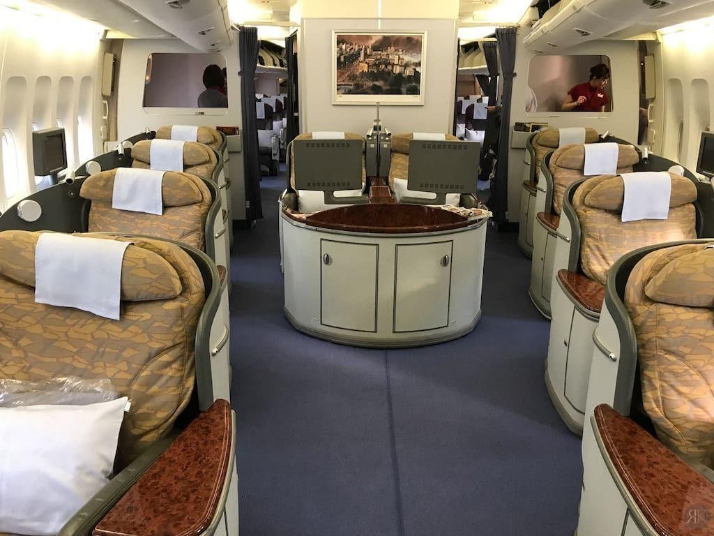 中華航空: 波音747-400曾經的國際頭等艙 2