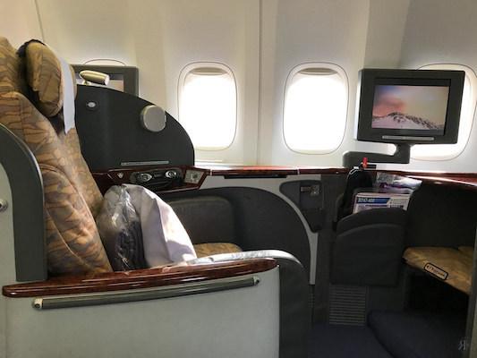 中華航空: 波音747-400曾經的國際頭等艙